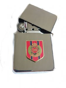 Royal Engineers Chrome Plated Windproof Petrol Lighter in Gift Box v2